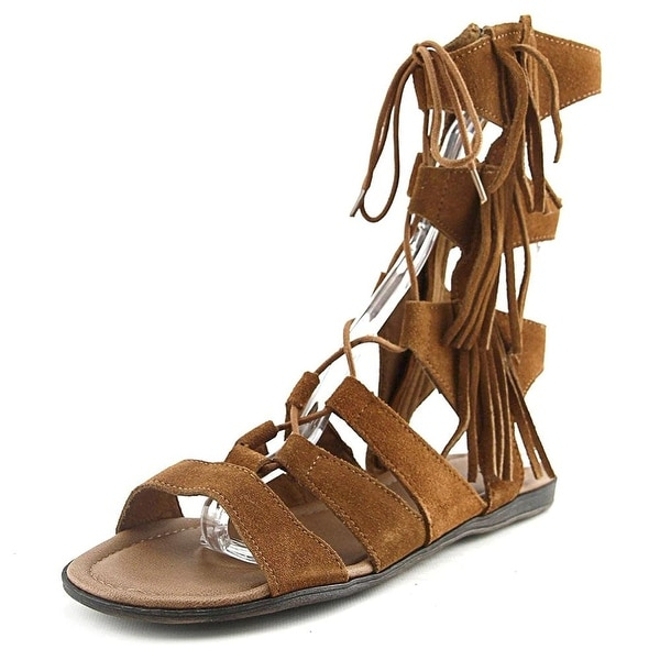 Minnetonka Womens Milos Suede Open Toe Casual Strappy Sandals