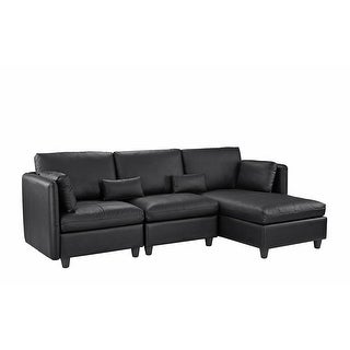 Link to Classic Leather Match Sectional Sofa with Chaise Similar Items in Living Room Furniture