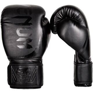 Venum Challenger 2.0 Hook and Loop Boxing Gloves - Black/Black
