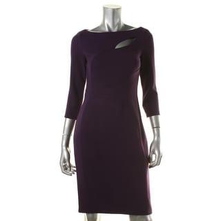 Anne Klein Womens 3/4 Sleeve Knee Length Cocktail Dress