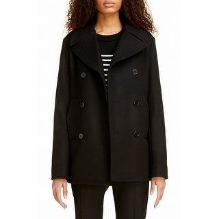 Stephanie Mathews Womens Peacoat Black Size Medium M Double Breasted
