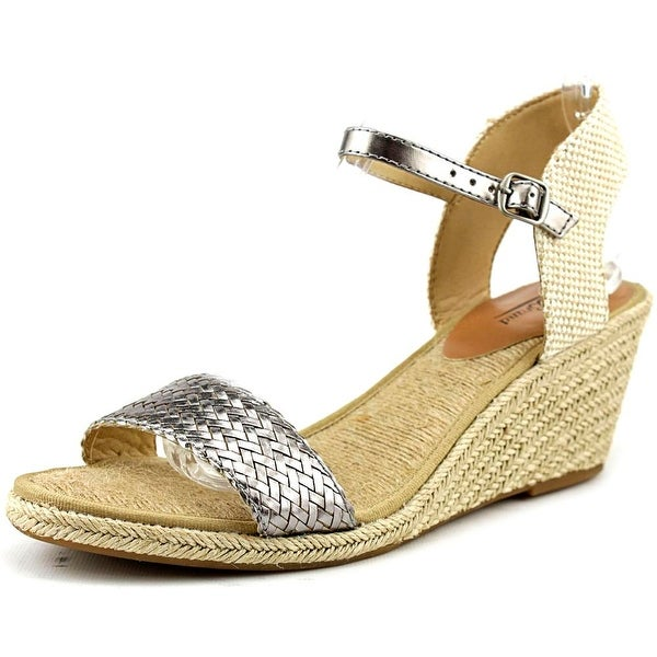 Lucky Brand Kavelli Open Toe Canvas Wedge Sandal