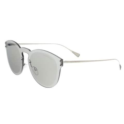 10042ca949e29 Emporio Armani EA2049 30156G Silver Round Sunglasses - 43-15-145