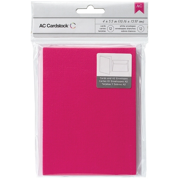 "American Crafts A2 Cards W/Envelopes (4.375""X5.75"") 12/Pkg-Taffy"