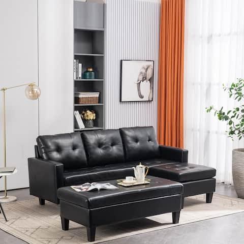L-shaped Sectional Sofa Set