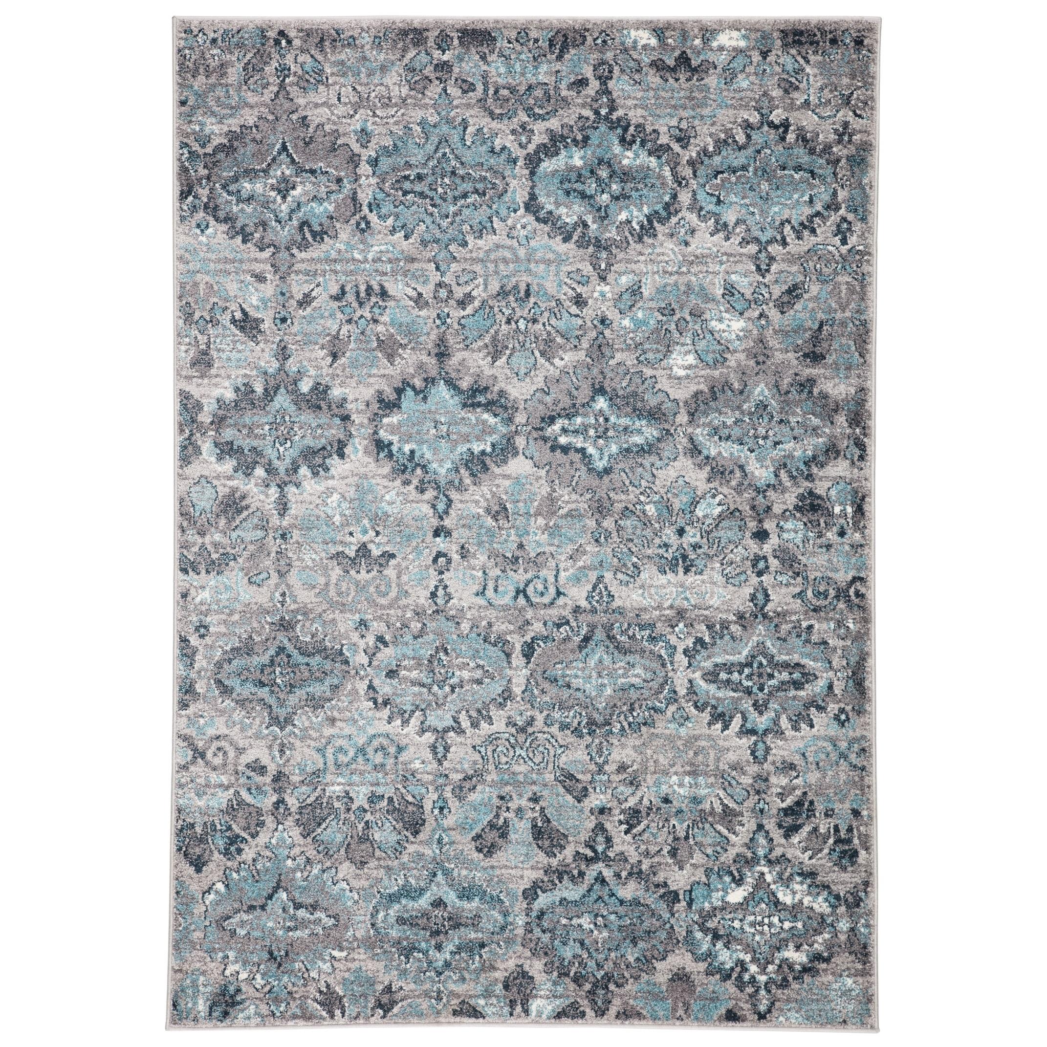Shop Black Friday Deals On Souta Ikat Grey Turquoise Area Rug Overstock 23554467