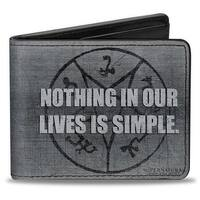 Supernatural Nothing In Our Lives Is Simple Devil's Trap Symbol + Logo Bi-Fold Wallet - One Size Fits most