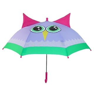 ShedRain Kids' Rain Essentials Owl Character Stick Umbrella - beatrice owl - One Size