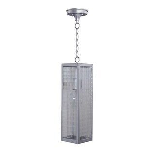 "Craftmade Z4521SC Deka Single Light 4-27/32"" Wide Outdoor Mini Pendant with Square Patterned Clear Glass Shade"