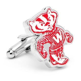 University of Wisconsin Badgers Vintage Logo Cufflinks - Red