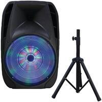 "Supersonic iq-4415djbt 15"" Portable Bluetooth(R) DJ Speaker with Stand"