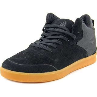 Globe Abyss Men Round Toe Suede Black Sneakers