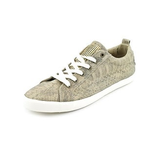 G By Guess Metty 2 Women Round Toe Canvas Gold Sneakers