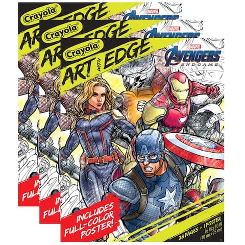 Art with Edge, Marvel Avengers Infinity Wars Coloring Pages & Poster, 3 Packs