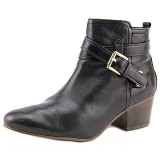 Coach Pauline Women Round Toe Leather Black Ankle Boot