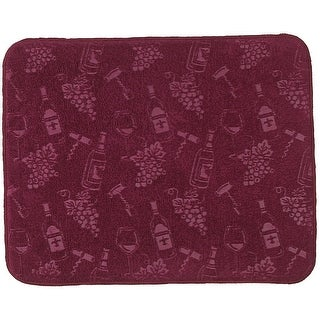 Wine Lover Embossed Print Microfiber Kitchen Countertop Drying Mat