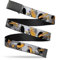 Blank Black Bo Buckle Catdog House Poses Grays Webbing Web Belt