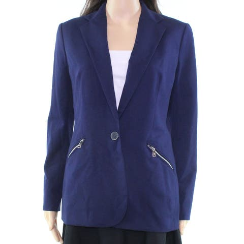 Lauren by Ralph Lauren Blue Women's Size 10 Zipper Pocket Blazer