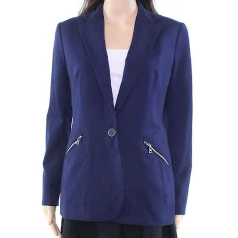 Lauren by Ralph Lauren Women's Zipper Pocket Blazer