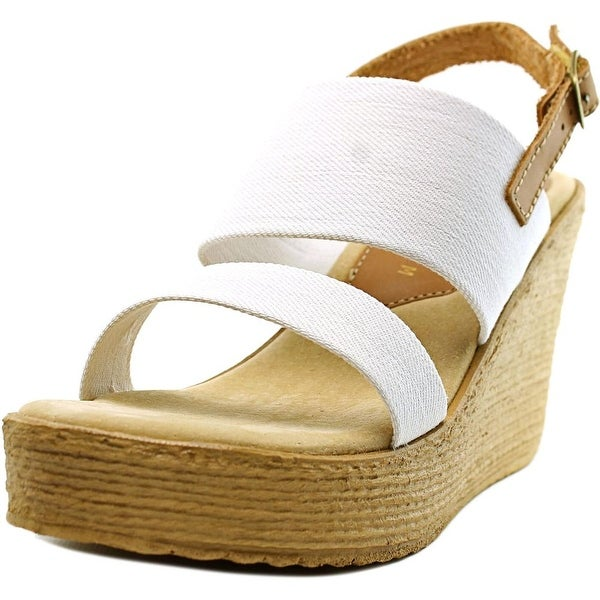 Sbicca Camilla Women Open Toe Canvas Wedge Sandal