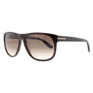 Tom Ford Olivier TF236 50P Dark Brown Squared Sunglasses - Dark brown - 58mm-15mm-145mm