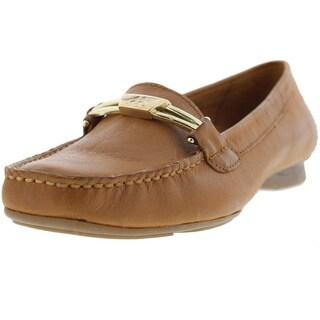 Naturalizer Womens Saturday Leather Moc Toe Loafers - 4.5 medium (b,m)