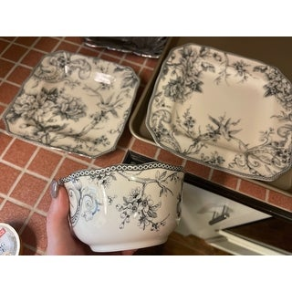 222 Fifth Adelaide Grey 16 Piece Dinnerware Set, Service for 4