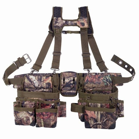 Bucket Boss 85035 Camo Mullet Buster Suspension Rig with 3-Bags & 28-Pockets