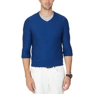 Nautica Mens Pullover Sweater Knit Ribbed Trim