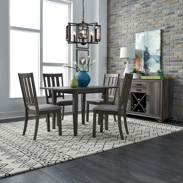 Silver Dining Table And Chairs, Shop Copper Grove Ignatievo 5 Piece Drop Leaf Table Set Overstock 25994531