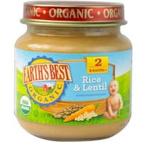 Earth's Best - Organic Brown Rice & Lentil Dinner ( 12 - 4 OZ)