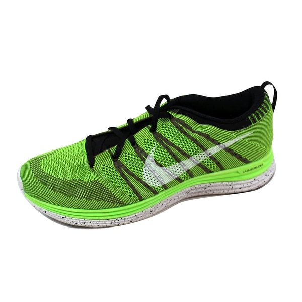 Nike Men's Flyknit One+ Electric Green/White-Black 554887-311 Size 14