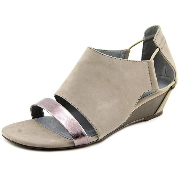 Matisse Port Women  Open Toe Leather Gray Wedge Sandal