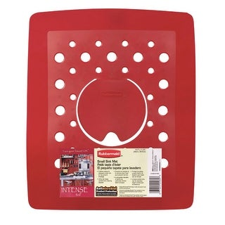 """Rubbermaid 2993-AR RED Antimicrobial Small Sink Mat, 11-1/2"""" x 13-1/2"""""""