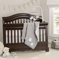 Lambs & Ivy Signature Goodnight Sheep Gray/White 4-Piece Nursery Baby Crib Bedding Set