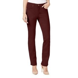 Charter Club Lexington Straight Leg Jeans Pants Smoky Claret - 18