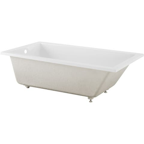 """Swiss Madison SM-DB567 Voltaire 72"""" Drop In Acrylic Soaking Tub with - Glossy White"""