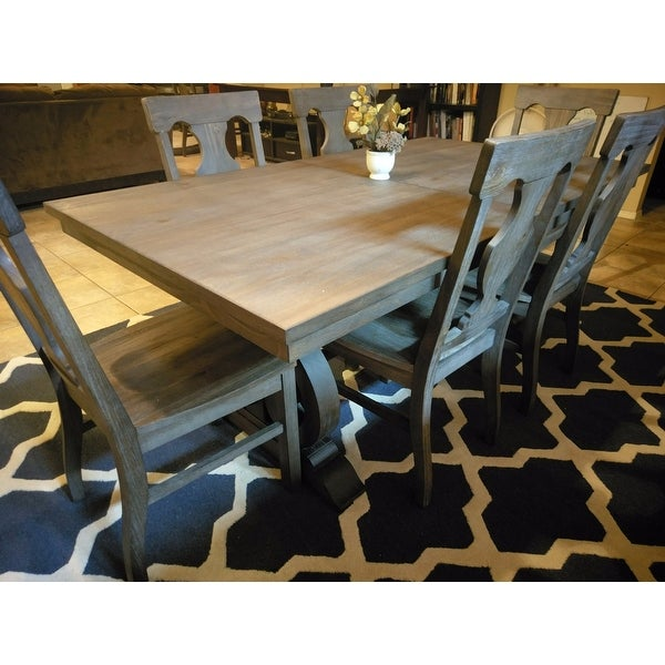 Shop Rowyn Wood Extendable Dining Table Set By INSPIRE Q Artisan   Free  Shipping Today   Overstock.com   14399187