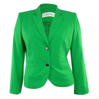 Calvin Klein Women's Two Button Blazer Jacket