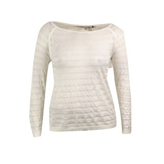 DKNYC Women's Illusion Stripe Knit Pullover Sweater