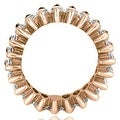 4.50 cttw. 14K Rose Gold Marquise Diamond Eternity Ring - Thumbnail 1