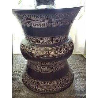 Handmade Hourglass Shape Bronze Table (India)