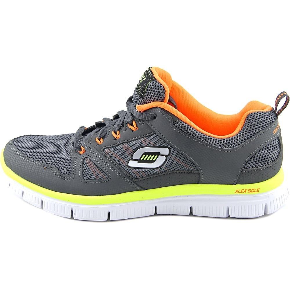Skechers Flex Advantage Mini Rush Boy CharcoalOrange Athletic Shoes