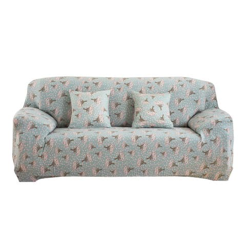Unique Bargains Hyacinth Pattern Stretchy Sofa Slipcovers