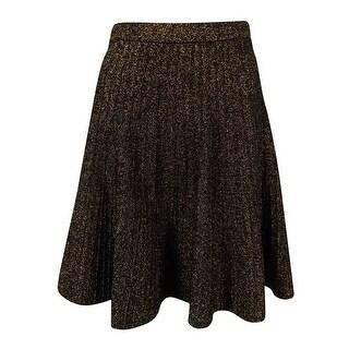 Grace Elements Women's Metallic Sweater Skirt