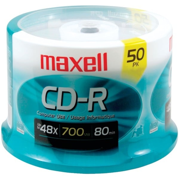 Maxell 623251/648250 700Mb 80-Minute Cd-Rs (50-Ct Spindle)