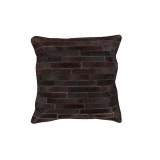 22 Black Pearl and Coffee Bean Rustic Tile Patterned Decorative Throw Pillow