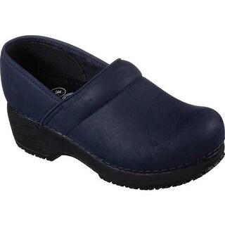 Skechers Women's Work Clog Slip Resistant Shoe Navy