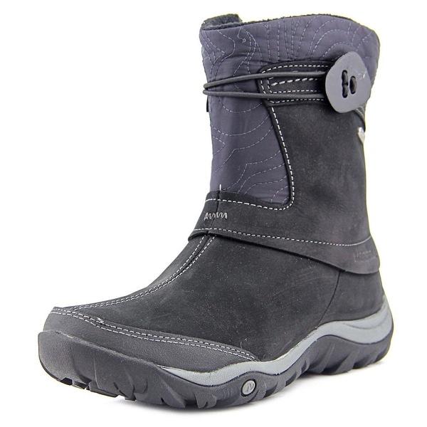Merrell Dewbrook Zip Waterproof Women Round Toe Suede Black Snow Boot