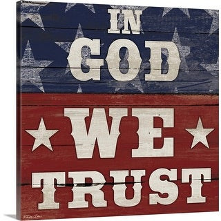 """In God We Trust"" Canvas Wall Art"